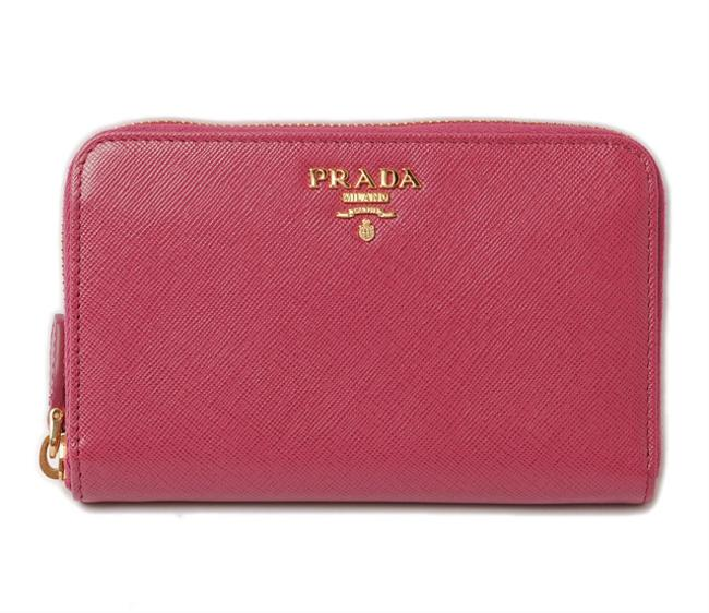 Item - Pink Pouch Smartphone Case Folded Saffiano Metal Fuchsia Outlet Wallet