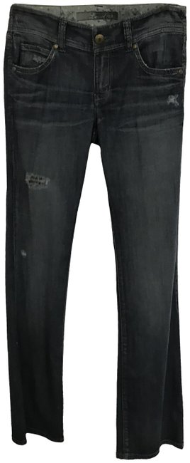 Item - Blue Distressed Boot Cut Jeans Size 27 (4, S)