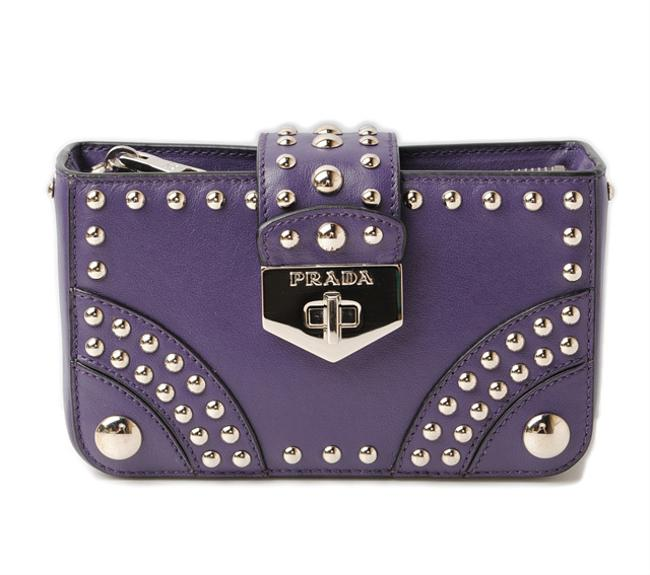 Item - Mini Pouch Smartphone Case Accessory 1n1843 Studded Calf Outlet Purple Clutch