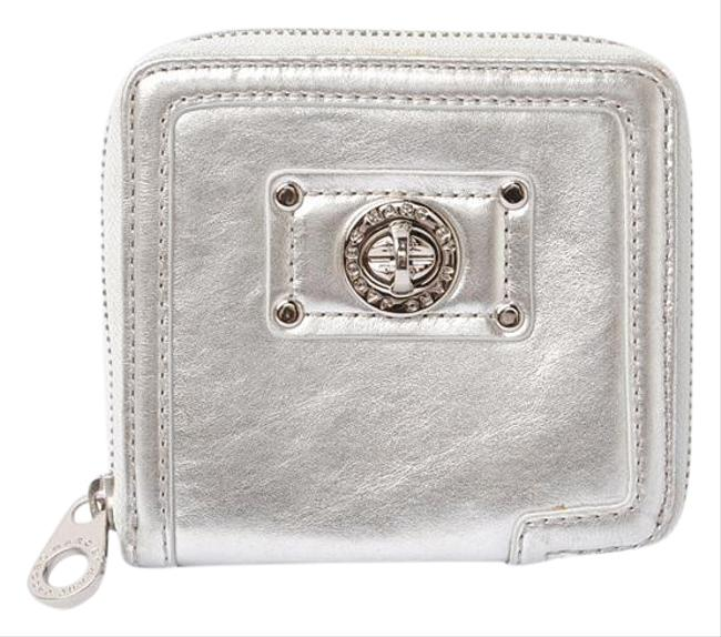 Item - Silver Fold Patent Leather M3834049 Wallet