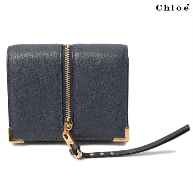 Item - Navy Chloé Folded Ghost Ghost 3p0077-733 Wallet