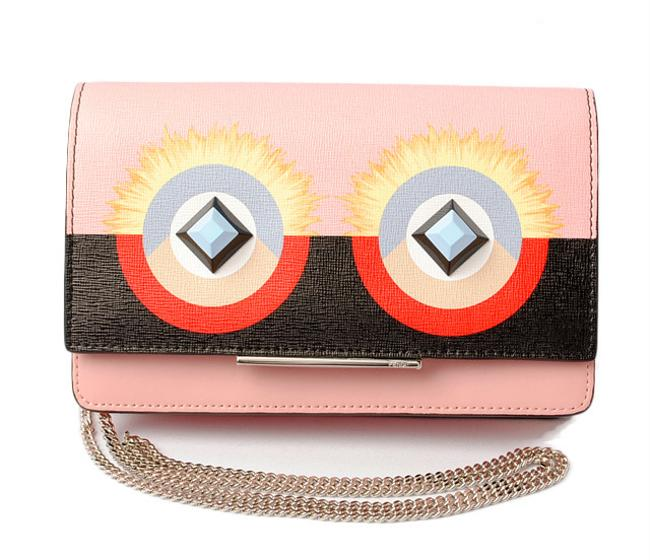 Item - Multi-color / Pink Mini Bag With Chain Leather 8m0346 Sqt F02l0 Wallet