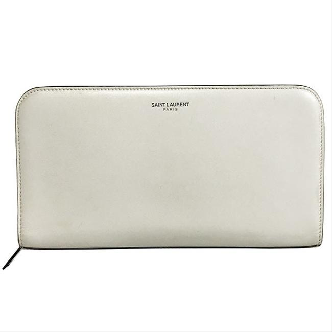 Item - Ivory Classic Full Zip Leather Organizer Round Zipper Long Wallet