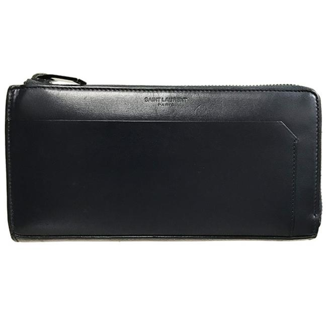 Item - Navy Classic Fragment Full Zip Leather 456153 Long Wallet