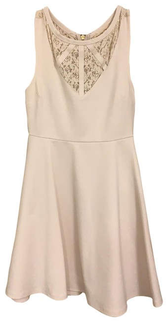 Item - Cream Bd151066 Short Cocktail Dress Size 4 (S)