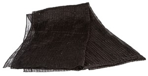 other Black Pleated Silk Sequin Scarf