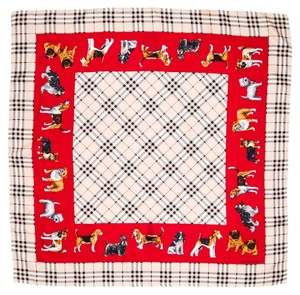 Burberry Multicolor Burberry nova check print dog silk scarf