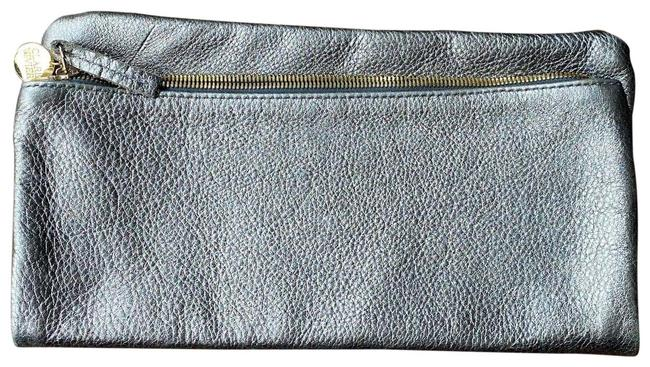 Item - Fold Over Silver Leather Clutch
