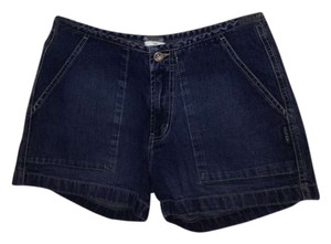 High-rise Vintage Summer Denim Shorts-Dark Rinse