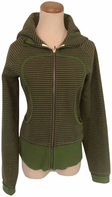 Item - Green Athletica Fatigue and Dark Gray Striped Remix Activewear Outerwear Size 6 (S)