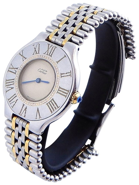 Item - Gold/Stainless Steel Must 21 Plated Two-tone Watch