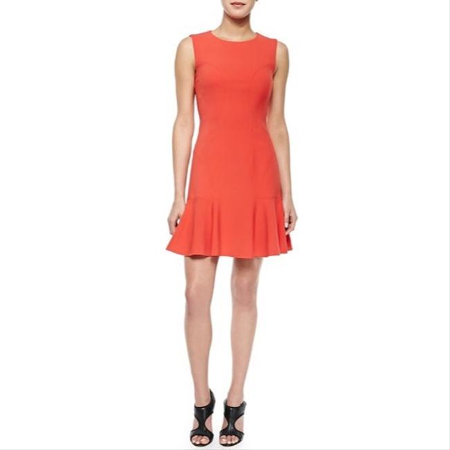 Item - Coral Orange Jaelyn Flare-hem Night Out Dress Size 4 (S)