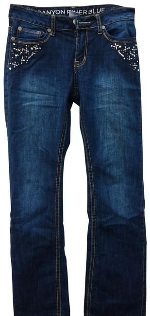 Item - Dark Rinse No Style Number Boot Cut Jeans Size 29 (6, M)