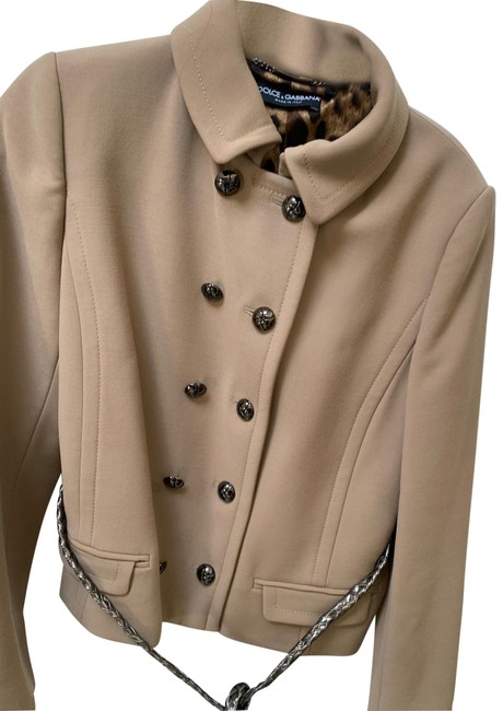 Item - Brown Military Cropped Style Blazer Size 8 (M)