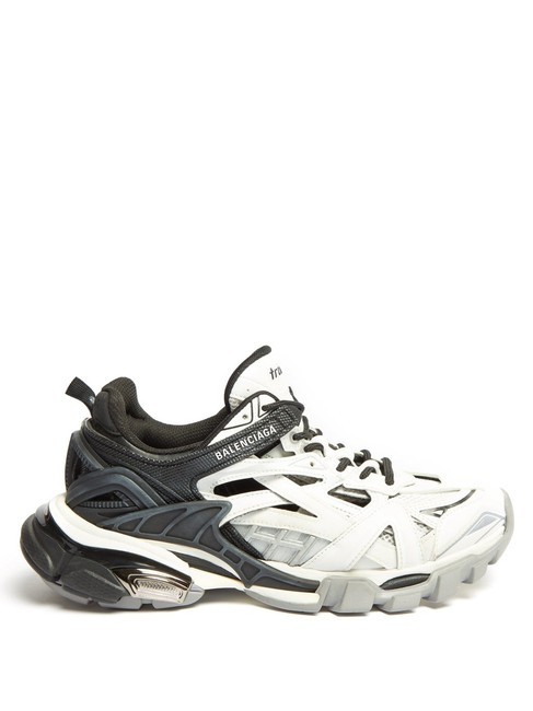 Item - White/Black Mf Track 2 Trainers Sneakers Size EU 34 (Approx. US 4) Regular (M, B)