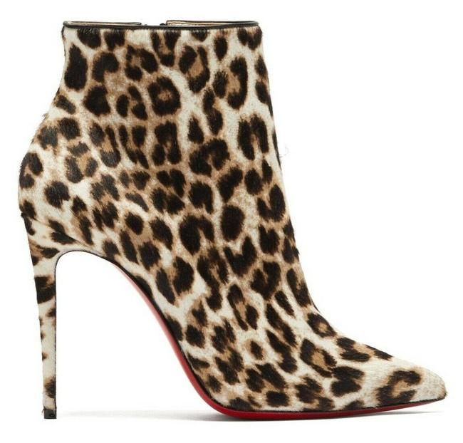 Item - Black So Kate 100 White Pony Leopard Stiletto Heel Ankle Boots/Booties Size EU 37.5 (Approx. US 7.5) Regular (M, B)