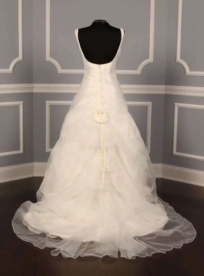 St. Pucchi White Organza Z153 Modern Dress Size 8 (M)