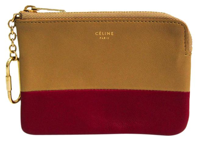 Item - Beige / Red Color Solo Coin Purse 106013 Women's Leather Coin Purse/Coin Case Wallet