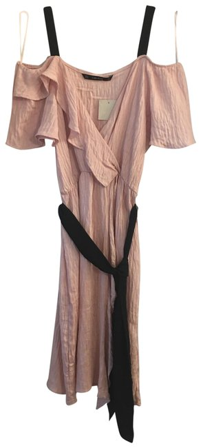 Item - Peach Sexy Open Mid-length Night Out Dress Size 10 (M)
