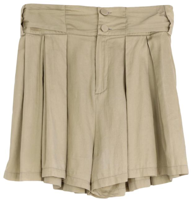 Item - Khaki Pleated Culottes with Bow Shorts Size 6 (S, 28)