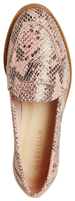 Pink Snakeskin Effect Leather Penny Loafers Italy Flats Size EU 37 (Approx. US 7) Regular (M, B) Pink Snakeskin Effect Leather Penny Loafers Italy Flats Size EU 37 (Approx. US 7) Regular (M, B) Image 1