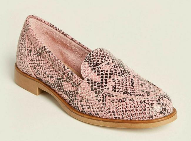 Pink Snakeskin Effect Leather Penny Loafers Italy Flats Size EU 37 (Approx. US 7) Regular (M, B) Pink Snakeskin Effect Leather Penny Loafers Italy Flats Size EU 37 (Approx. US 7) Regular (M, B) Image 2