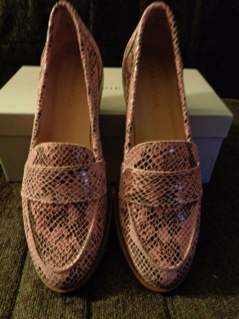 Pink Snakeskin Effect Leather Penny Loafers Italy Flats Size EU 37 (Approx. US 7) Regular (M, B) Pink Snakeskin Effect Leather Penny Loafers Italy Flats Size EU 37 (Approx. US 7) Regular (M, B) Image 4