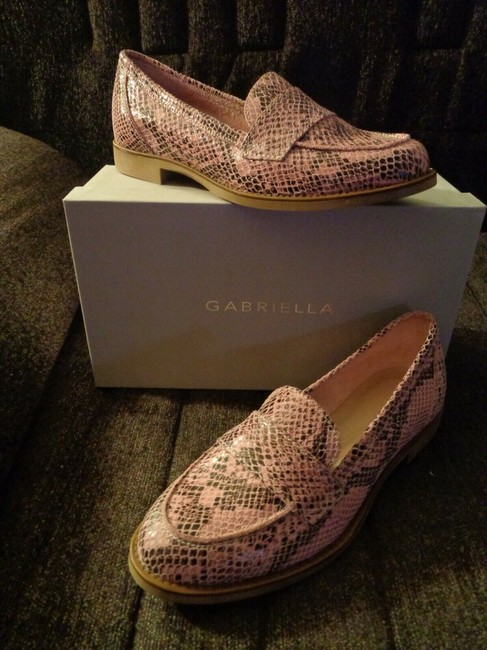 Pink Snakeskin Effect Leather Penny Loafers Italy Flats Size EU 37 (Approx. US 7) Regular (M, B) Pink Snakeskin Effect Leather Penny Loafers Italy Flats Size EU 37 (Approx. US 7) Regular (M, B) Image 6