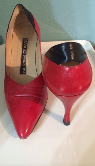 MAUD FRIZON Red And Black Pumps