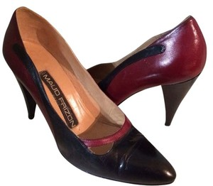 MAUD FRIZON Dark Red And Black Pumps