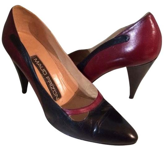 Preload https://item2.tradesy.com/images/maud-frizon-dark-red-and-black-80-s-italian-leather-pumps-size-us-7-regular-m-b-2776291-0-0.jpg?width=440&height=440