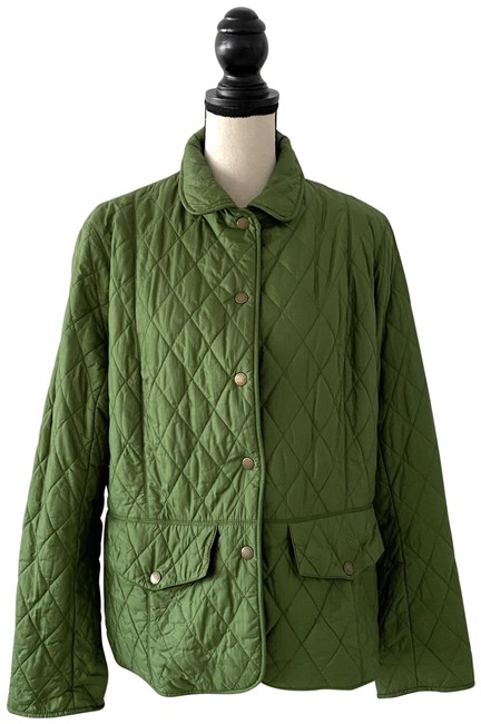 Item - Green XL Quilted Padded Diamond Shape Jacket Size 14 (L)