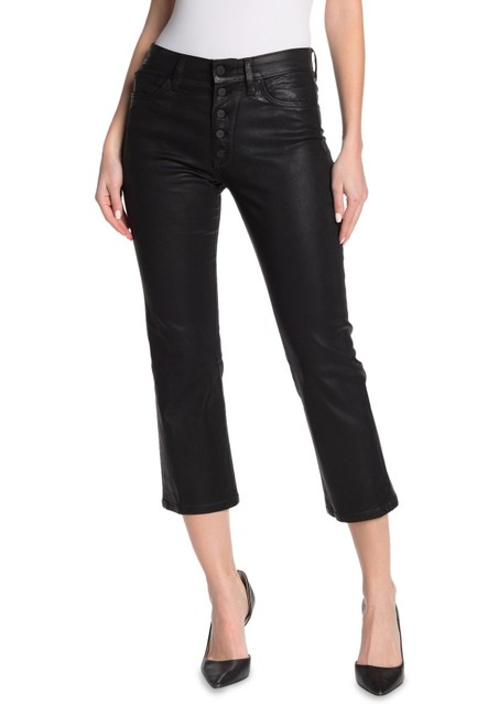 Item - Black Coated Callie High Rise Capri/Cropped Jeans Size 26 (2, XS)