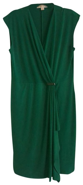 Item - Green Classic Mid-length Night Out Dress Size 12 (L)