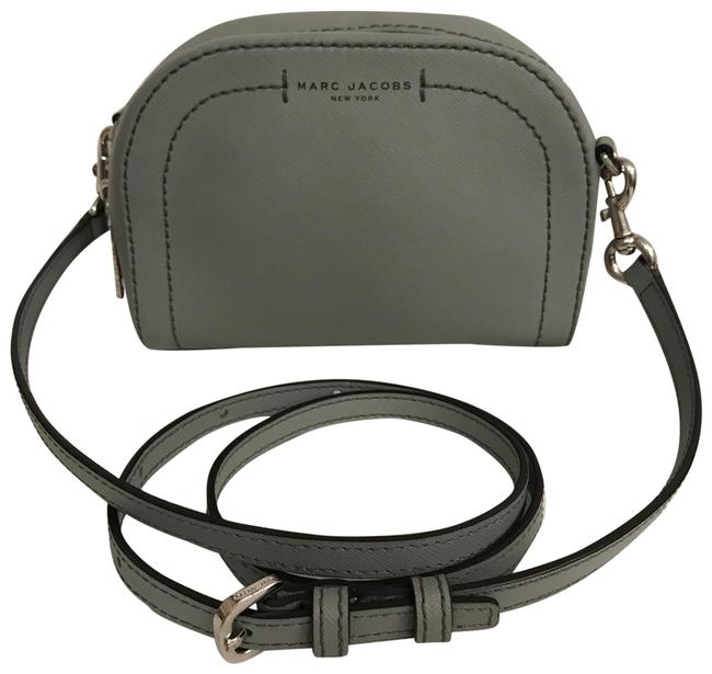Item - Playback Saffiano Gray Silver Leather Cross Body Bag