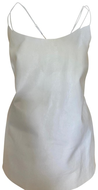 Vince Ivory White Leather and Silk Camisole Tank Top/Cami Size 12 (L) Vince Ivory White Leather and Silk Camisole Tank Top/Cami Size 12 (L) Image 1