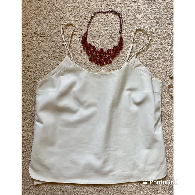 Vince Ivory White Leather and Silk Camisole Tank Top/Cami Size 12 (L) Vince Ivory White Leather and Silk Camisole Tank Top/Cami Size 12 (L) Image 3