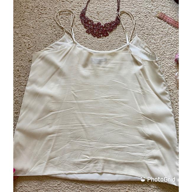 Vince Ivory White Leather and Silk Camisole Tank Top/Cami Size 12 (L) Vince Ivory White Leather and Silk Camisole Tank Top/Cami Size 12 (L) Image 4