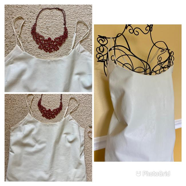Vince Ivory White Leather and Silk Camisole Tank Top/Cami Size 12 (L) Vince Ivory White Leather and Silk Camisole Tank Top/Cami Size 12 (L) Image 7