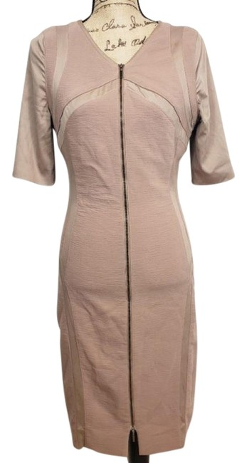 Item - Pink Panel Mid-length Work/Office Dress Size 6 (S)