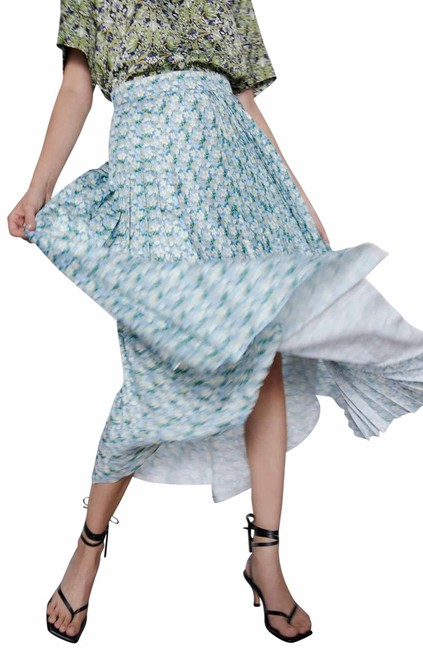 Item - Multicolor XS Floral Pleated Assymetrical High Color Nwt. Skirt Size 2 (XS, 26)