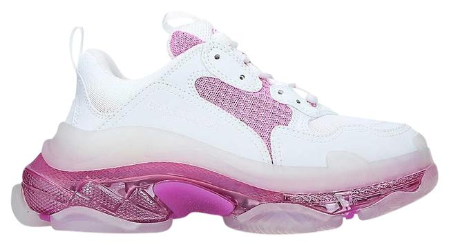 Item - White/Pink Sg Triple S Bubble Panelled Leather & Mesh Trainers Sneakers Size EU 34 (Approx. US 4) Regular (M, B)