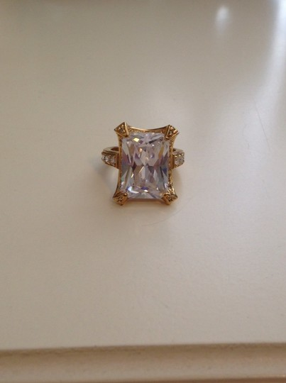 Other Gold Square Cubic Zirconia Ring Size 8
