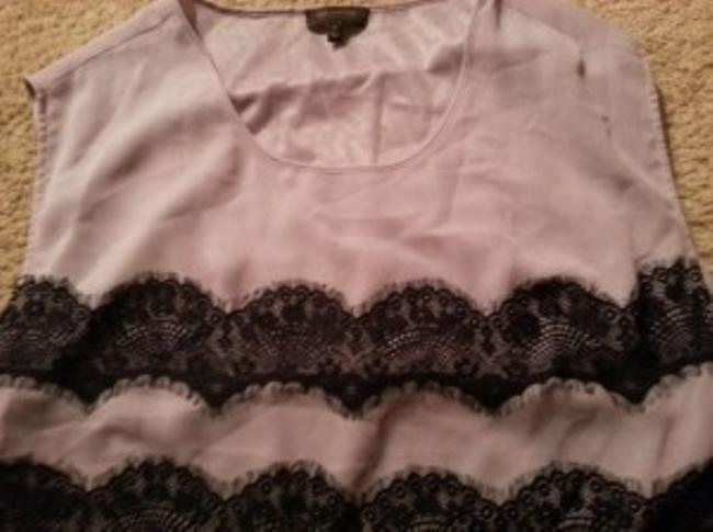 The Limited Top Purple with black lace