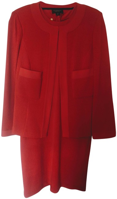 Item - Red 2 Pc. Caviar & Jacket Short Night Out Dress Size 10 (M)