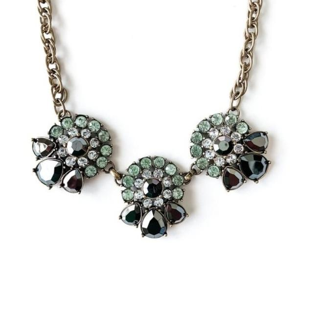 Item - Brass Black Green Art Deco Statement Necklace