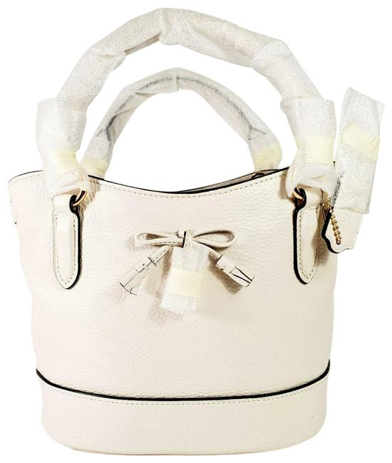 """Item - Bucket Micro Ally Cream White. Tag Says """"Chalk"""" Leather Cross Body Bag"""