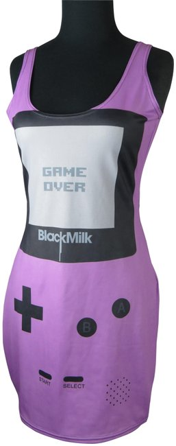 Item - Purple Gray Black Gamer Collection Short Casual Dress Size 8 (M)