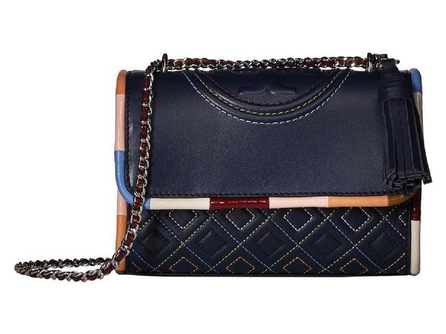 Item - Shoulder Fleming Piping Navy Multi Leather Cross Body Bag