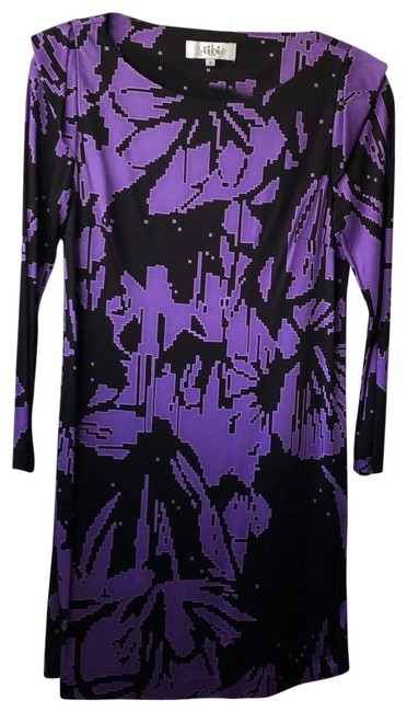 Item - Purple and Black 103220284 Mid-length Night Out Dress Size 6 (S)